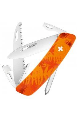 Нож складной, мультитул Swiza С06 (95мм, 12 функций), оранжевый KNI.0060.2060
