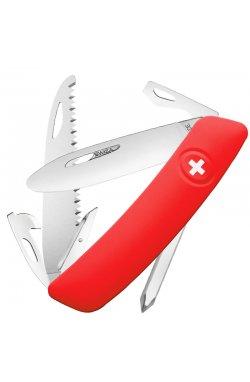 Нож складной, мультитул Swiza J06 (95мм, 12 функций), красный KNI.0061.1001