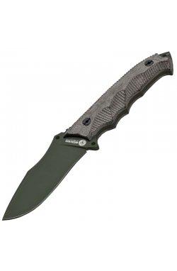 Нож фиксированный Boker Arbolito Buffalo Soul 42 El Verdor (длина: 233мм, лезвие: 101мм, хаки