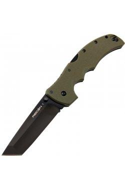 Нож складной Cold Steel Recon 1 Tanto Point (длина: 238мм, лезвие: 102мм), олива