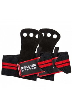 Накладки гимнастические Power System Crossfit Grip PS-3330 Black/Red (Пара)