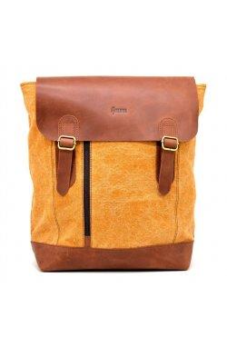 Городской рюкзак микс ткани канваc и кожи RY-3880-4lx TARWA