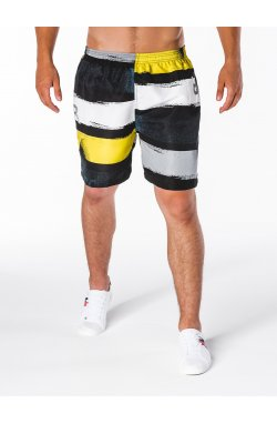 Men's shorts W093 - turquoise/yellow
