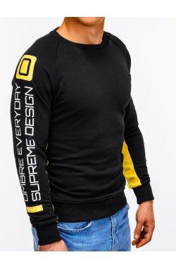 Свитшот мужской с надписью S921 - Черный