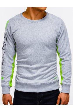 Свитшот мужской с надписью S921 - Серый