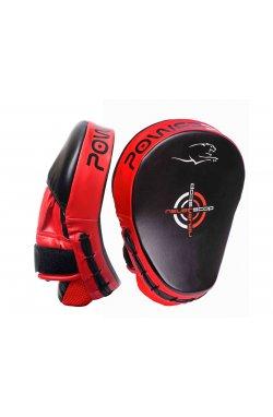 Лапы боксерские PowerPlay 3041 Чорно-Красные PU [пара]