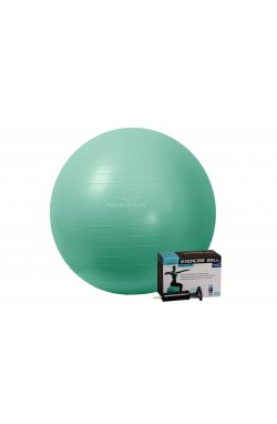 Мяч для фитнеса PowerPlay 4001 65см Мятний + насос