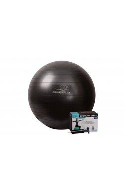 Мяч для фитнеса PowerPlay 4001 65см Чорний + насос