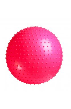 Мяч-Массажер для фитнеса PowerPlay 4002 55см Розовий + насос