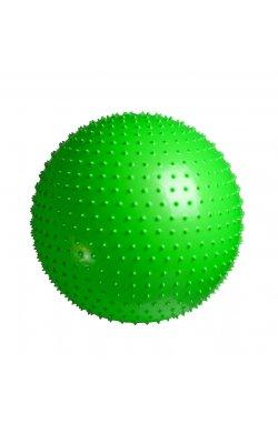 Мяч-Массажер для фитнеса PowerPlay 4002 65см Салатовий + насос