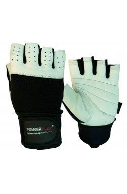 Перчатки для фитнеса PowerPlay 1069 Чорно-Белые