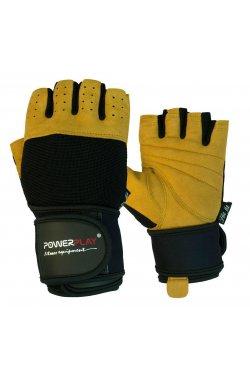 Перчатки для фитнеса PowerPlay 1069 А Чорно-Коричневі