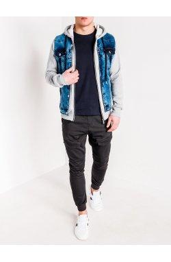 Куртка мужская джинсовая K322 - jeans/grey