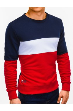 Bluza męska bez kaptura B925 - czerwona