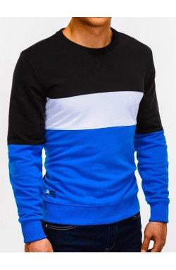 Bluza męska bez kaptura B925 - niebieska