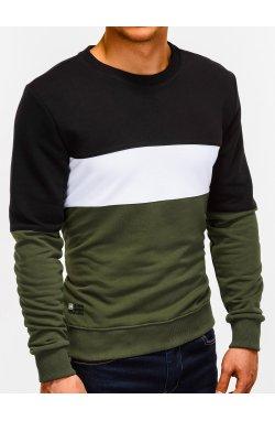 Bluza męska bez kaptura B925 - oliwkowa
