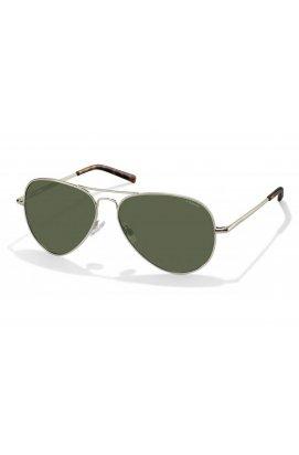 Солнцезащитные очки Polaroid PLD1017-3YG-H8 - авиаторы, Цвет линз - зеленый