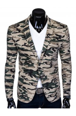 Пиджак мужской P144 - камуфляжный/бежевый