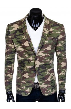 Пиджак мужской P144 - камуфляжный/коричневый