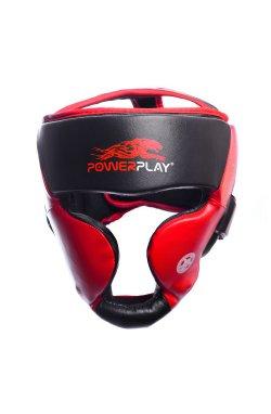Боксерський шлем тренировочный PowerPlay 3031 Platinum Красно-Чорний