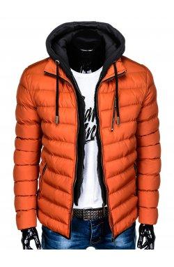 Куртка мужская стеганая K384 - оранжевый