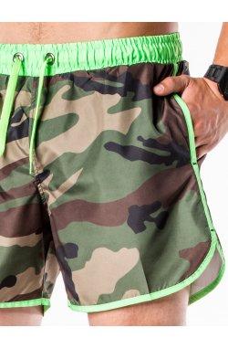 Men's swimming shorts W038 - камуфляжный/lime зеленый