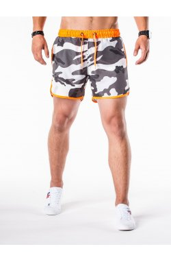 Men's swimming shorts W038 - камуфляжный/оранжевый