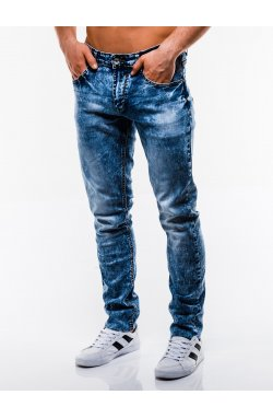 Spodnie męskie jeansowe P829 - niebieskie
