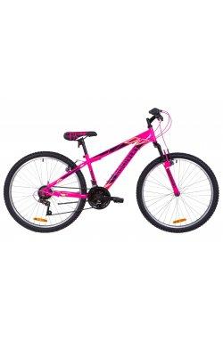 """Велосипед 26"""" Discovery RIDER AM Vbr 2019 (малиново-черный с желтым)"""