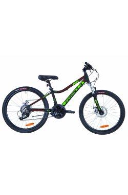 """Велосипед 24"""" Formula ACID 2.0 DD 2019 (черно-зеленый с красным (м))"""