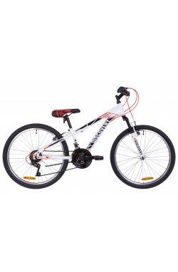 """Велосипед 24"""" Discovery RIDER AM Vbr 2019 (бело-красный с серым)"""