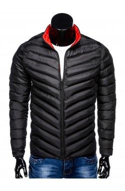 Куртка мужская демисезонная стеганая K344 - черный