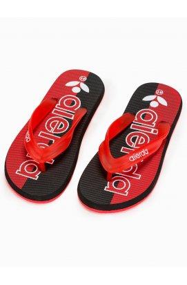 Men's t-bar sandals T289 - красный