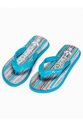 Men's t-bar sandals T288 - светло - голубой
