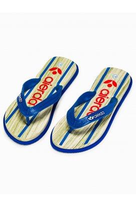 Men's t-bar sandals T288 - голубой