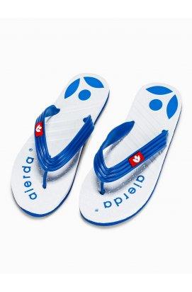 Men's t-bar sandals T125 - Белый/голубой