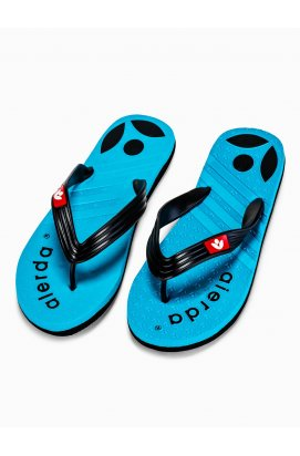 Men's t-bar sandals T125 - голубой/черный