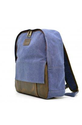 Молодежный рюкзак канвас с кожаными вставками RK-7224-4lx TARWA