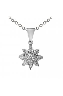 Кулон из белого золота с бриллиантами (854561)