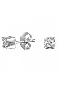 Серьги из белого золота с бриллиантами (864613)
