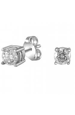 Серьги из белого золота с бриллиантами (866562)