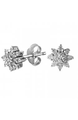 Серьги из белого золота с бриллиантами (870385)