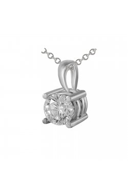 Кулон из белого золота с бриллиантом