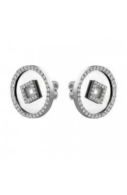 Серьги из белого золота с бриллиантами (1692471)