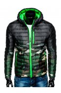 Куртка мужская стеганая K319 -зеленый/камуфляжный