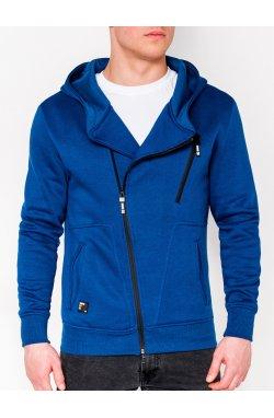 Толстовка мужская на молнии738 - Синий