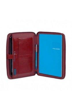 Папка Piquadro BL SQUARE/Red на молнии с блокнотом А5 и отдел. д/iPad mini/iPad mini3 (18,5x23x2) PB3250B2_R
