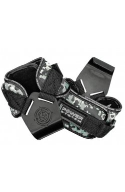 Крюки для тяги на запястья Power System Hooks Camo PS-3370 Black/Grey