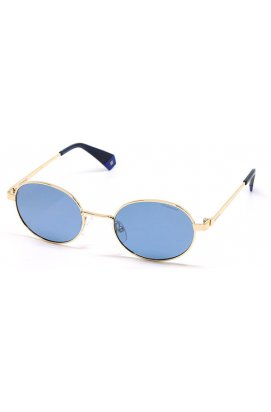 Солнцезащитные очки Polaroid PLD6066-LKS-XN - овальные, Цвет линз - серый;синий