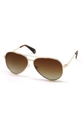 Солнцезащитные очки Polaroid PLD6069-J5G-LA - авиаторы, Цвет линз - коричневый;серый